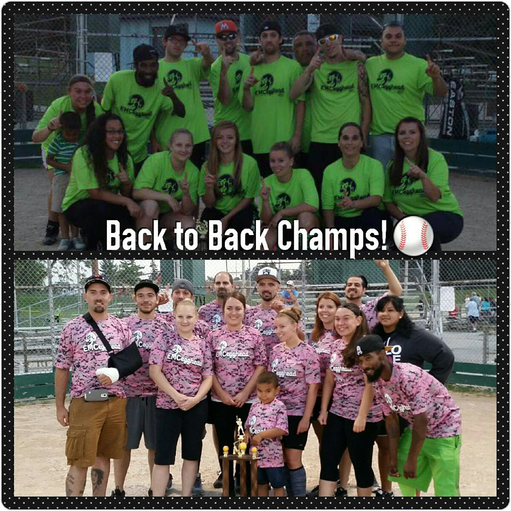 EMCegghead's 2015 Championship Softball Team! Back To Back Champs!